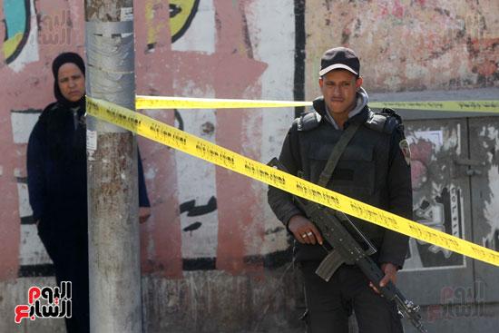 انفجار كمين شارع الهرم (22)