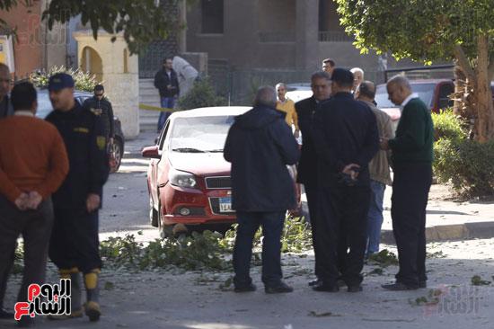 انفجار كمين شارع الهرم (3)