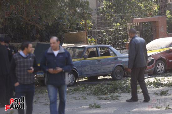 انفجار كمين شارع الهرم (11)