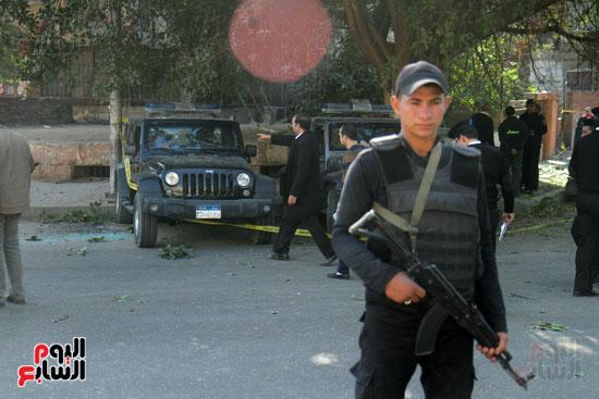 انفجار كمين شارع الهرم (39)