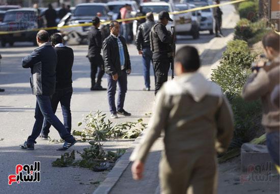 انفجار كمين شارع الهرم (9)