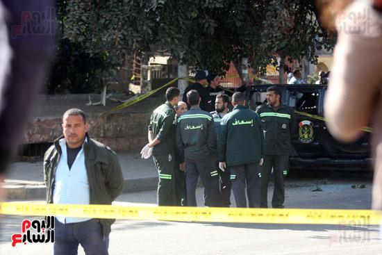 انفجار كمين شارع الهرم (16)