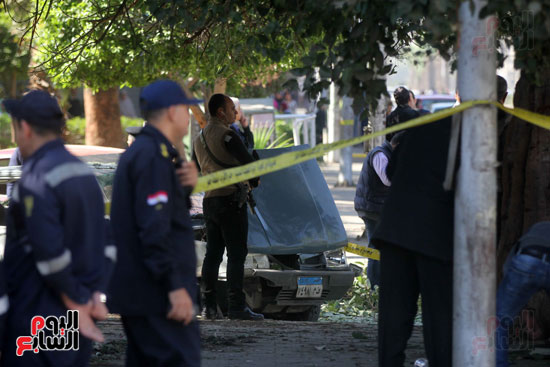 انفجار كمين شارع الهرم (29)