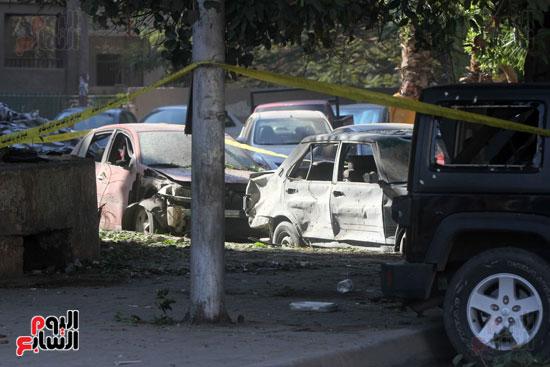 انفجار كمين شارع الهرم (32)