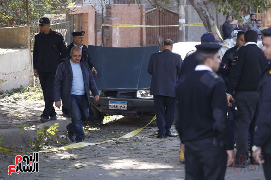 انفجار كمين شارع الهرم (5)