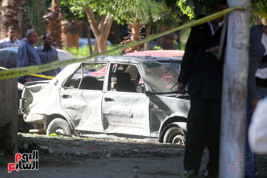 انفجار كمين شارع الهرم (27)