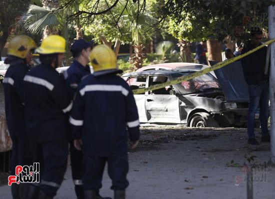 انفجار كمين شارع الهرم (4)