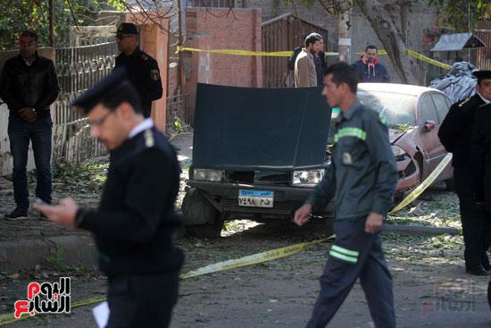 انفجار كمين شارع الهرم (14)