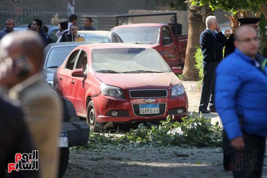 انفجار كمين شارع الهرم (25)
