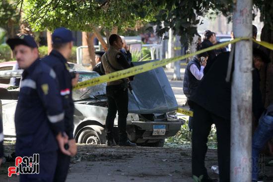 انفجار كمين شارع الهرم (28)