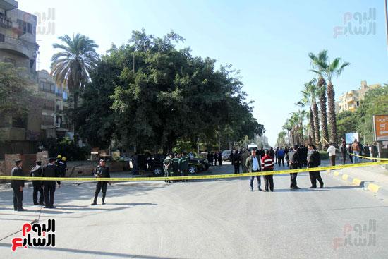انفجار كمين شارع الهرم (43)