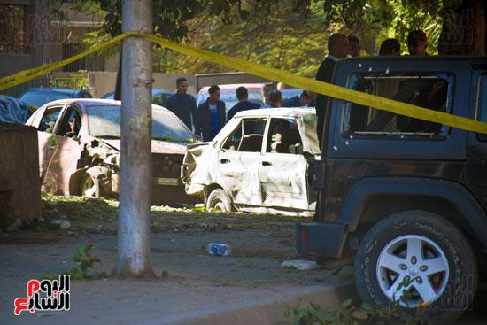 انفجار شارع الهرم (2)