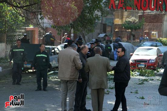 انفجار كمين شارع الهرم (37)