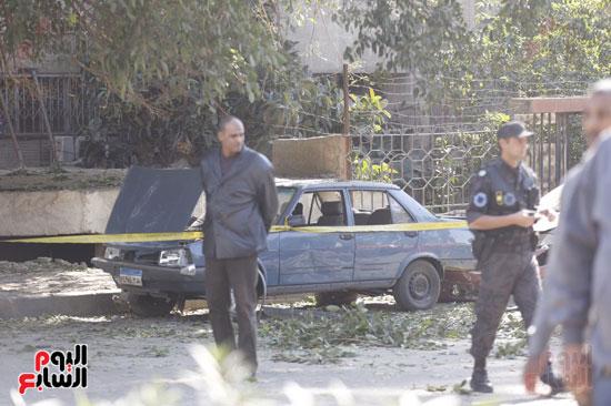 انفجار كمين شارع الهرم (2)