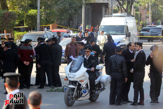 انفجار كمين شارع الهرم (18)