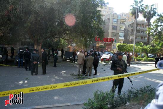 انفجار كمين شارع الهرم (35)
