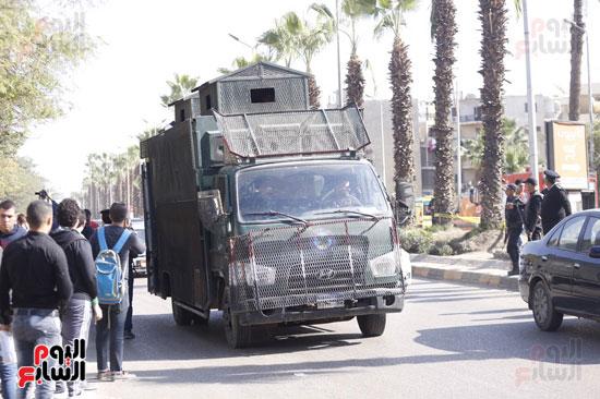 انفجار كمين شارع الهرم (12)