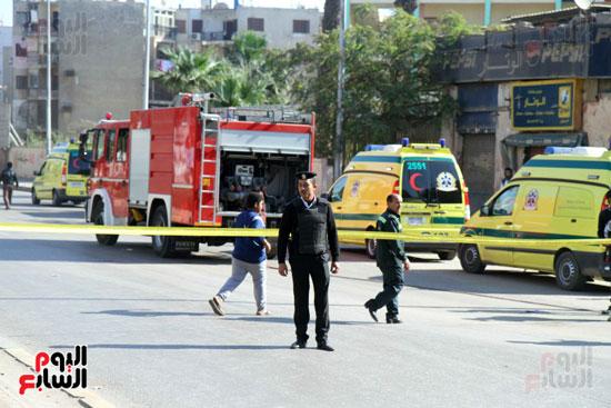 انفجار كمين شارع الهرم (40)