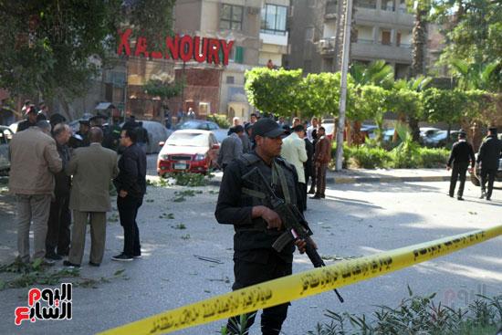 انفجار كمين شارع الهرم (36)