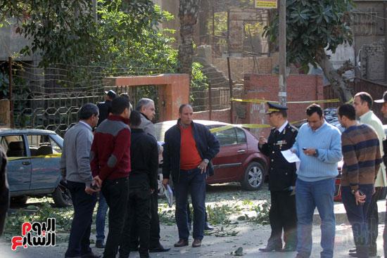 انفجار كمين شارع الهرم (15)