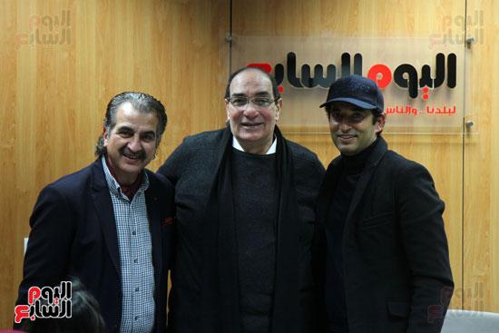 النجم عمرو سعد والمخرج مجدى أحمد على والإعلامى والناقد الرياضى عصام شلتوت
