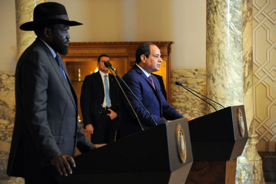 الرئيس السيسى وسلفاكير رئيس جنوب السودان  (4)