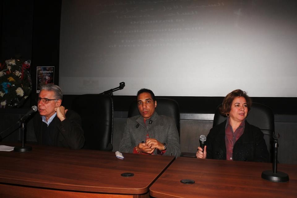 جابي خوري وعزة الحسيني في ندوة سوق الفيلم الافريقي
