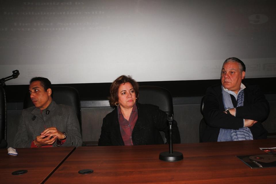 المخرج شريف مندور والمخرجة عزة الحسيني والمخرج سعد هنداوي