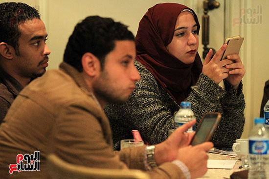الصحفيين فى مؤتمر جمعية رسالة