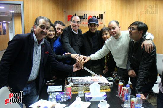 """تورتة فيلم """"مولانا"""" لعمرو سعد والمخرج مجدى أحمد على بـ""""اليوم السابع"""""""