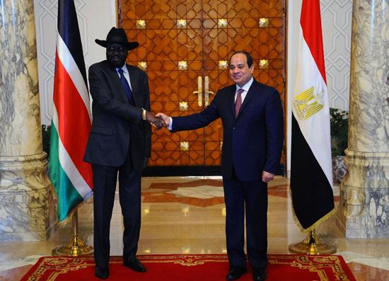 الرئيس السيسى وسلفاكير رئيس جنوب السودان  (1)