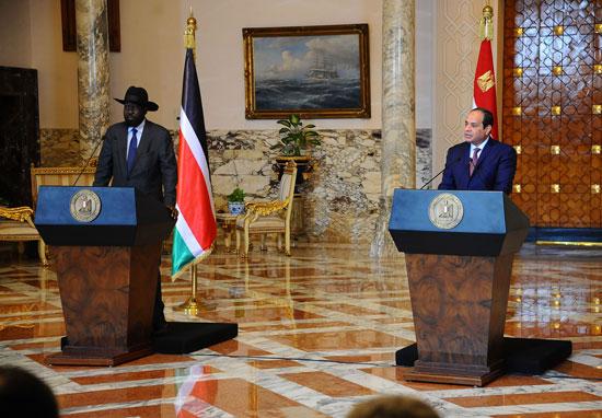 الرئيس السيسى وسلفاكير رئيس جنوب السودان  (3)