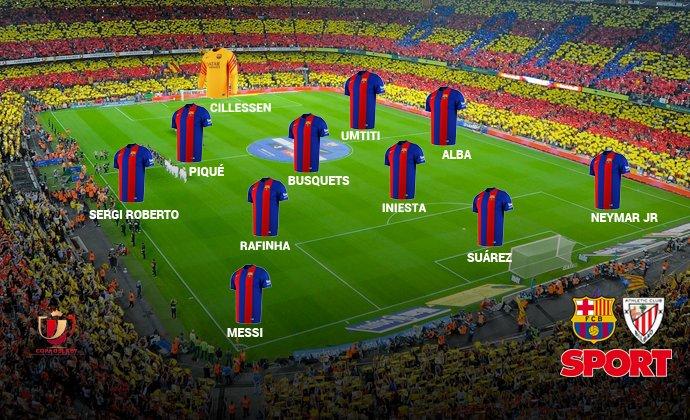 تشكيل فريق برشلونة فى مباراة أتليتك بلباو