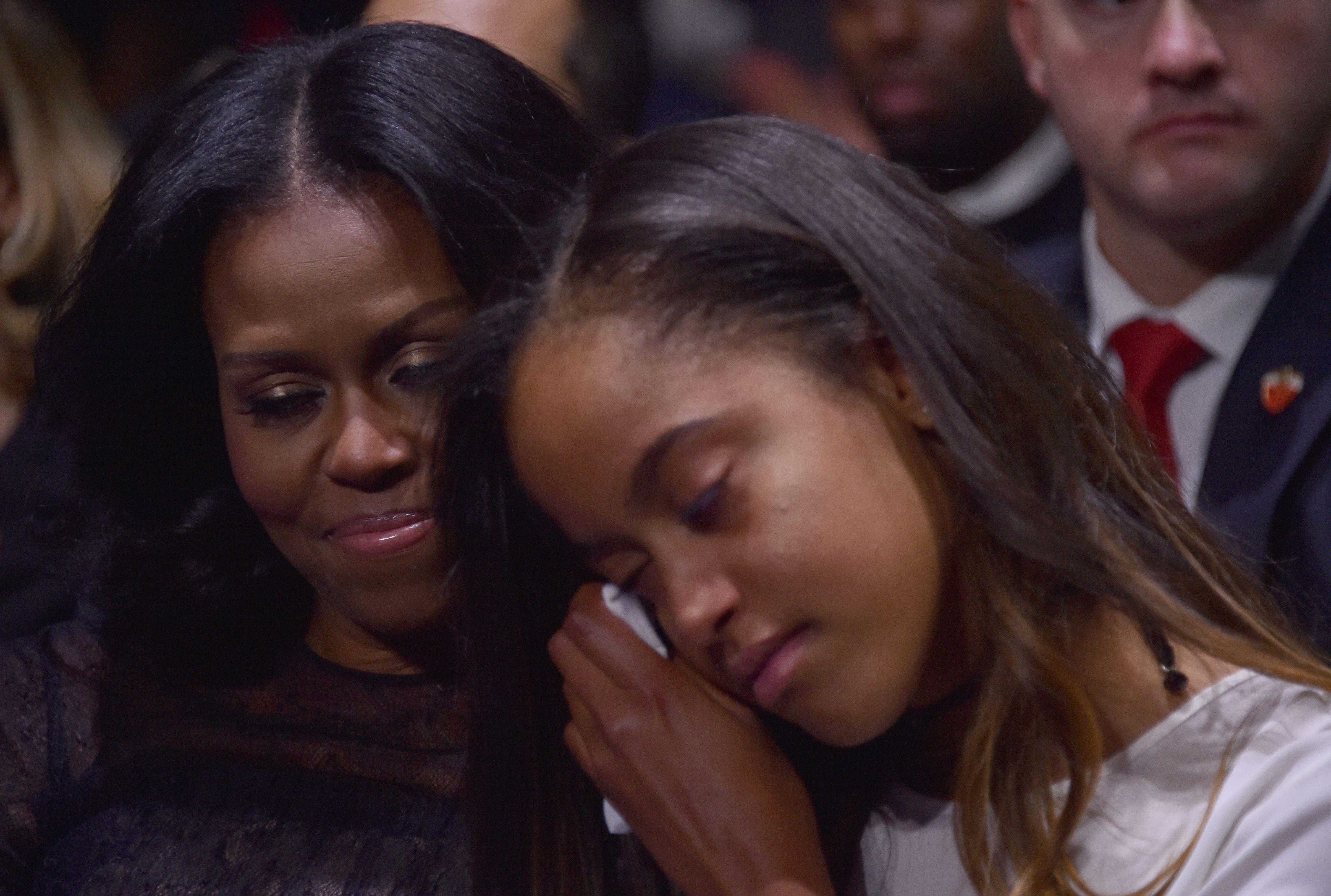 ميشيل أوباما وابنتها