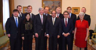 الرئيس السيسى يستقبل وفداً من مجلس أعمال الأمن القومي الأمريكي