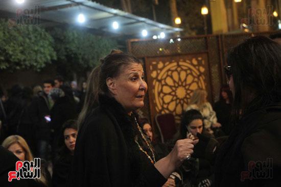 عزاء زوج بنت فيفى عبدة (28)