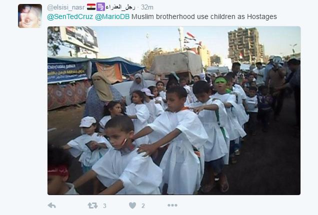 استخدام الاطفال فى مظاهرات رابعة