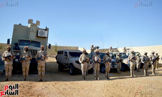 جانب من عمل قوات حرس الحدود