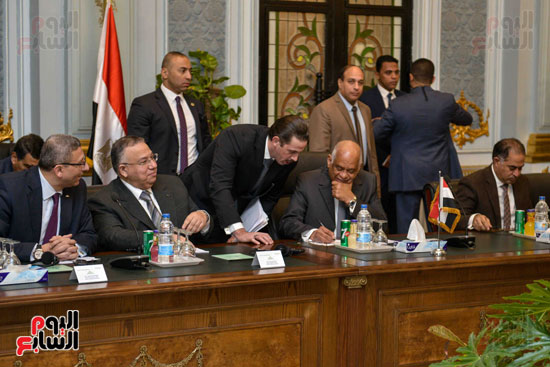 عبد العال وأحمد سعد امين عام المجلس