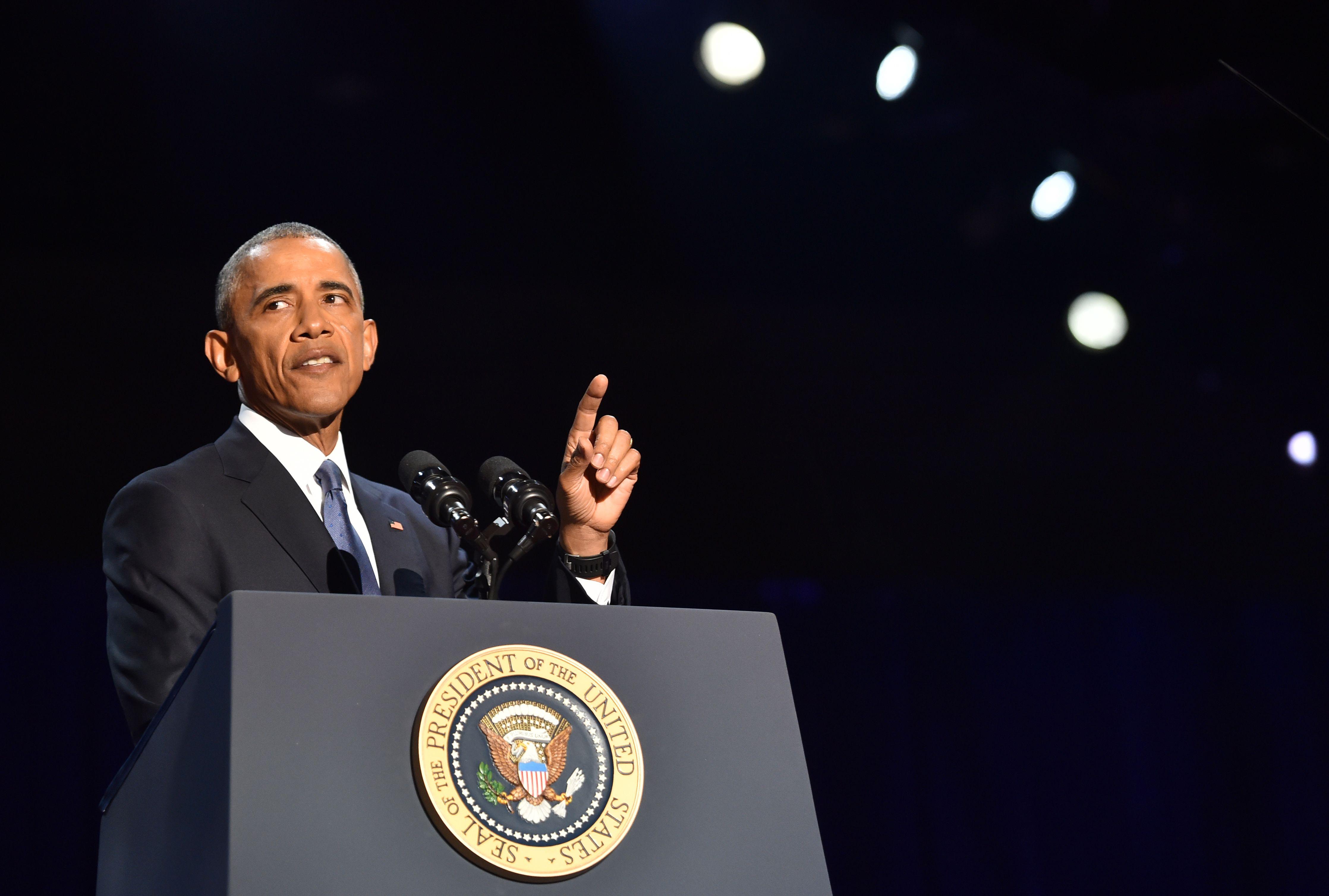 أوباما أثناء الخطاب