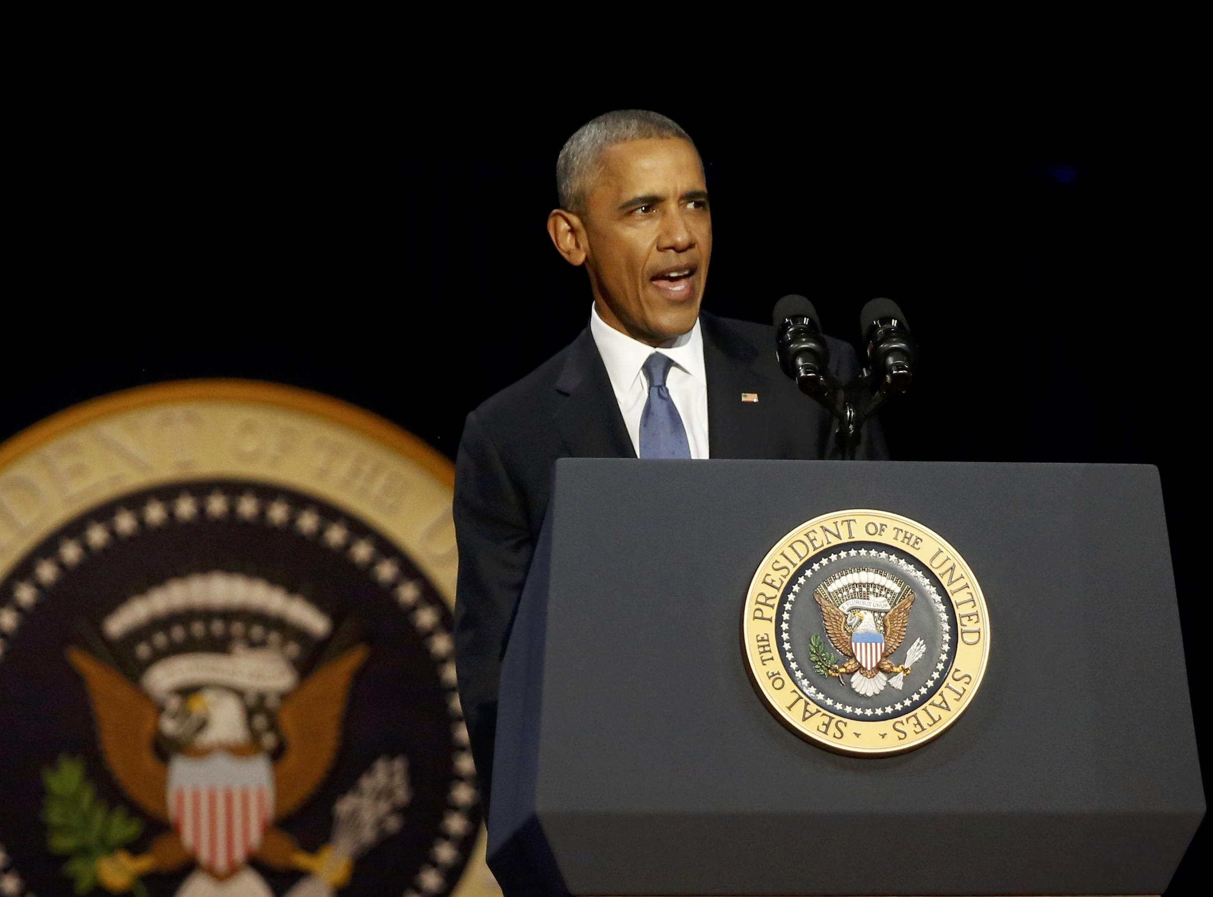 اوباما في خطابه الاخير