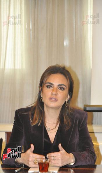 مؤتمر صحفى مجدى العجاتى وسحر نصر (1)