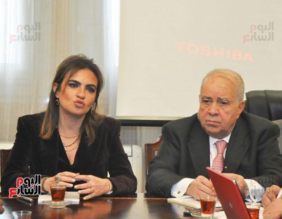 مؤتمر صحفى مجدى العجاتى وسحر نصر (4)
