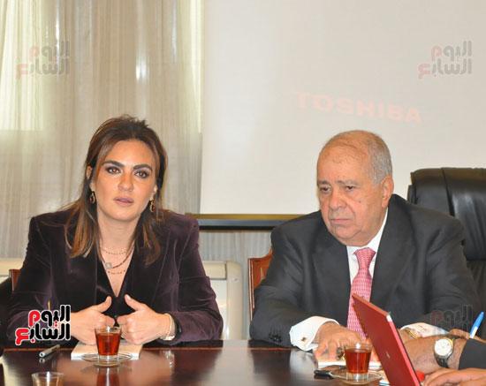 مؤتمر صحفى مجدى العجاتى وسحر نصر (9)