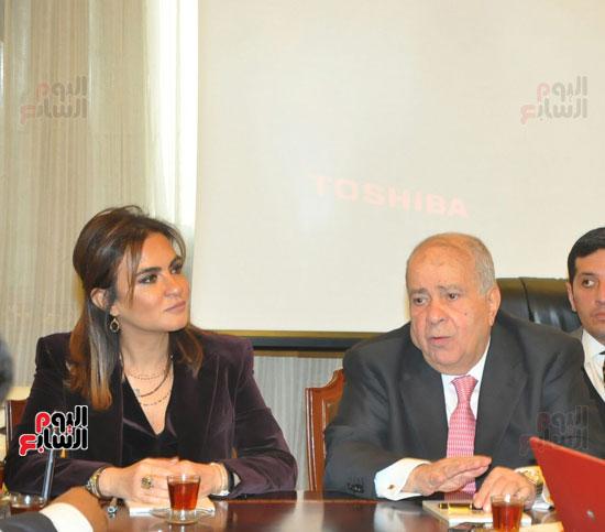 مؤتمر صحفى مجدى العجاتى وسحر نصر (10)