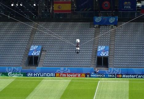 الكاميرا العنكبوتية فى الملاعب كرة القدم