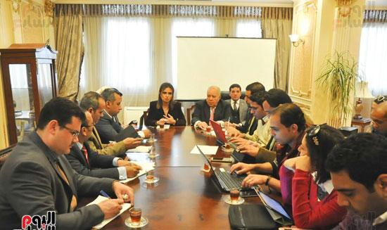 مؤتمر صحفى مجدى العجاتى وسحر نصر (2)