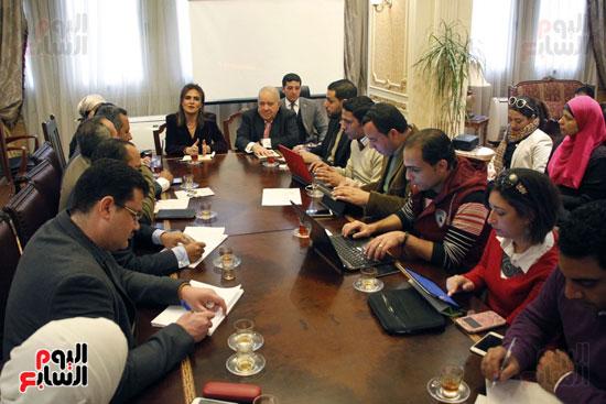 مؤتمر صحفى مجدى العجاتى وسحر نصر (8)