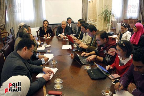 مؤتمر صحفى مجدى العجاتى وسحر نصر (5)