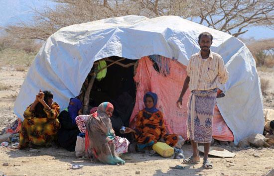 الفقر والبساطة فى حياة اللاجئون فى تعز
